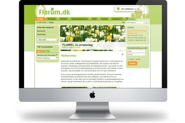 florum hostedshop webshop design