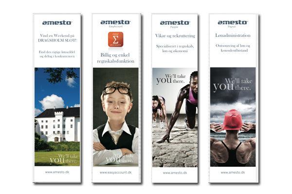 Design af bannere og reklamemateriale til Messe stand