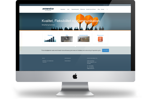 Webdesign til Amesto Accounthouse