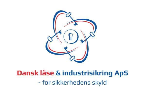 Dansk laaseservice logo design