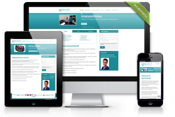 Ergomentor Hjemmeside design