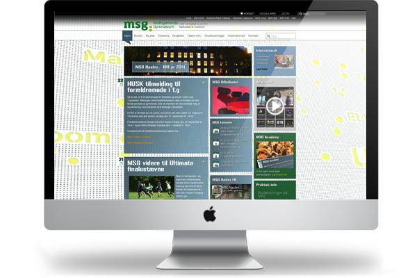 Midtsjællands Gymnasium webdesign