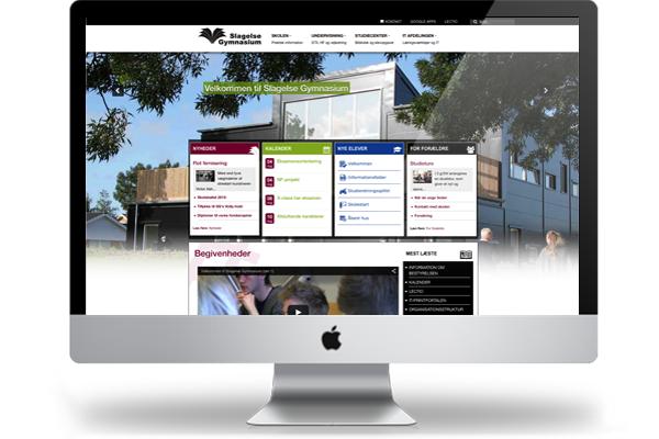 Slagelse Gymnasium responsivt webdesign