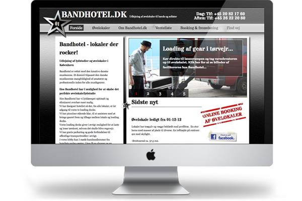 Bandhotel webdesign