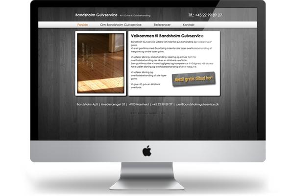 bandsholm gulvservice webdesign