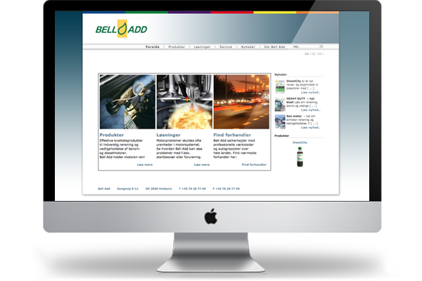 belladd.dk webdesign