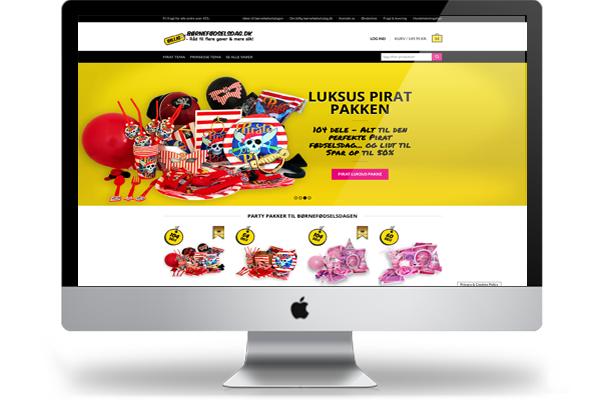 Billig Børnefødselsdag Woocomerce webshop