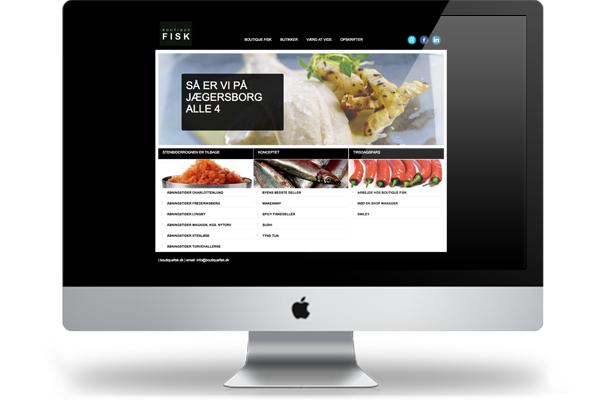 Boutique Fisk hjemmeside