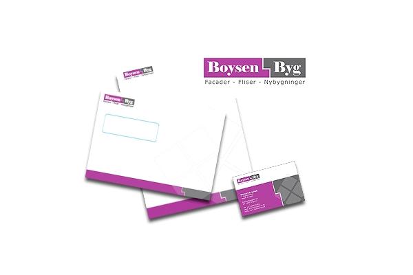 Design af komplet brevlinje til Boysen Byg