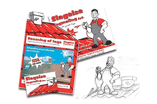 Design af brevlinje og brochure til Slagelse Tagmaling