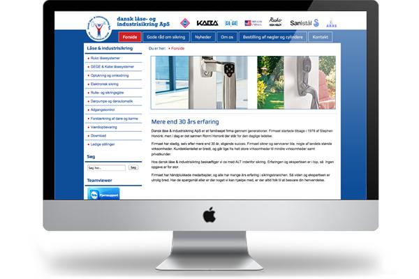 Webdesign Dansk låse & industrisikring ApS