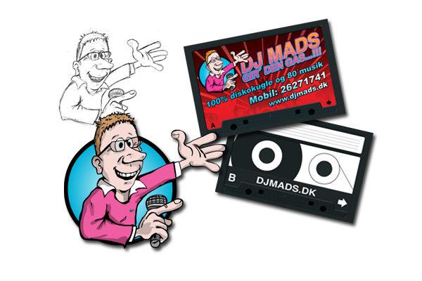 Logo design og visitkort til Dj Mads
