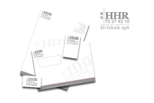 Brevlinje og logo design til HHR El teknik