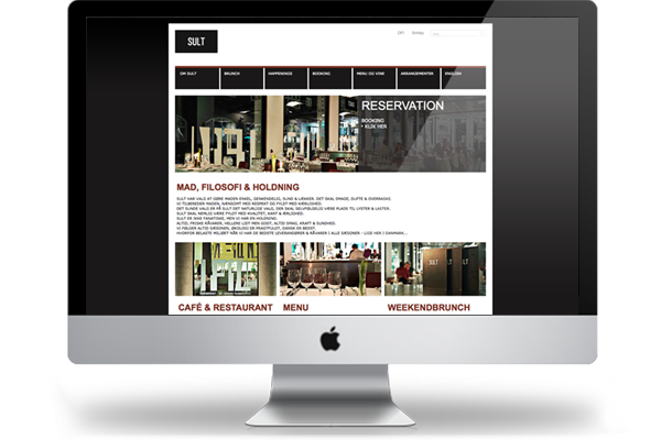 restaurant sult webdesign