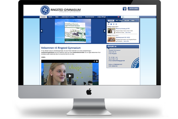 Ringsted gymnasium webdesign