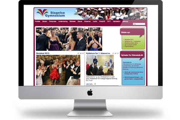 Slagelse Gymnasium webdesign