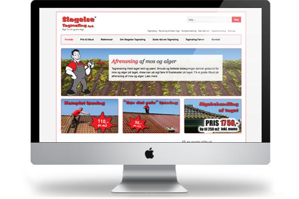 Slagelse tagmaling webdesign