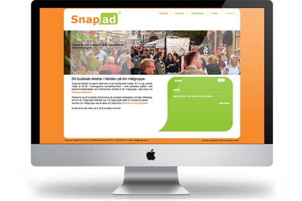 Snap-ad webdesign