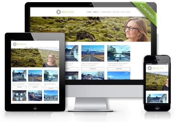 Aboutnow.dk Hjemmeside design