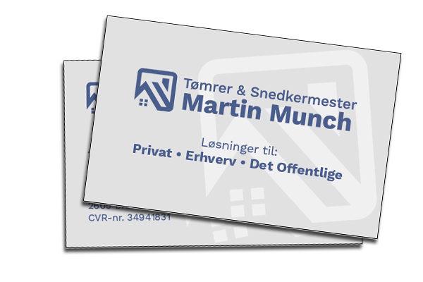 Visitkort til Tømrermester Martin Munch