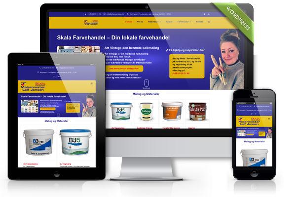 Wordpress hjemmeside til Leifjensenmaler.dk
