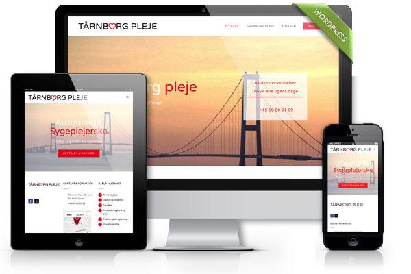 Hjemmeside til taarnborgpleje.dk